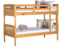 Brand new** Pine bunk beds - also in white and metal