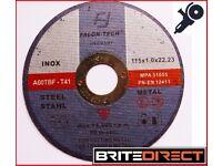25 angle grinder discs 115x1x22 cutting discs inox ,steel , metal, cutting wheel, abrasive