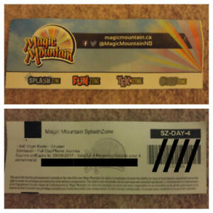 MAGIC MOUNTAIN SPLASH ZONE - FULL DAY PASS FOR 4 PEOPLE