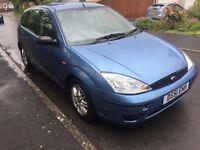 Ford Focus LX 1.8 petrol 5 door blue 2001 Mileage 89k