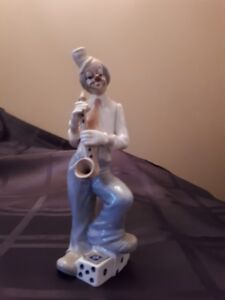 Tengra Porcelain Clown With Foot On Dice