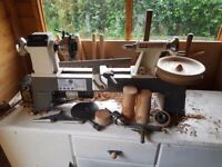 Axminster wood turning lathe