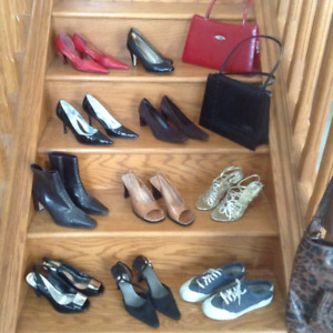 SHOES, BAGS, NEW OR LIGHTLY USED, MOSTLY LEATHER