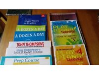 9 piano and music theory books