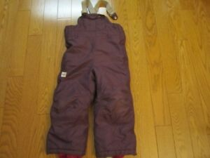 Size 5 MEC Toaster Bib Snowpants (purple plum colour)
