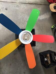 Multi coloured fan.