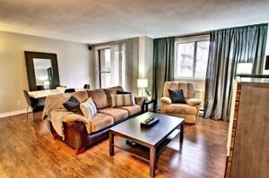 Fully renovated 3/12 condo for rent in Pierrefonds