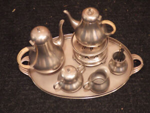 Pewter Coffee and Tea Service