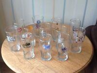 Pint beer glasses