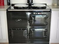 Refurbished gas AGA 2 oven cooker, pewter in immaculate condition