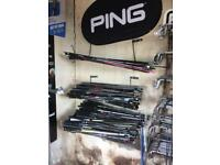 Golf shafts for sale from £10-£50 to suit irons,woods,drivers