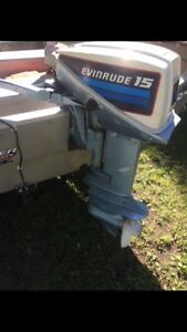 15hp Evinrude, Tracker Boat & Trailer