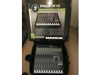 Mackie Pro FX 12 Mixing Desk with Mackie soft carry case and original box.