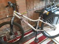 30 inch girls mountain bike with helmet
