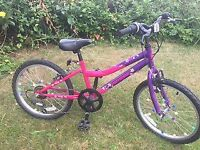 Girls bike for sale. 20 inch wheels.