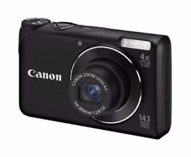 Canon PowerShot A2200 Digital Camera (14.1 Megapixel, 4x Optical Zoom, 2.7 inch LCD)+ Charger + Case