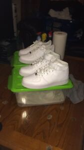 Two pairs of Nike Air Force ones brand new