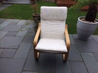4 IKEA Poang beech chairs- collection only (may be able to assist with local delivery)