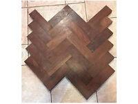 Reclaimed African teak Hardwood Parquet Flooring. £15 per sqm