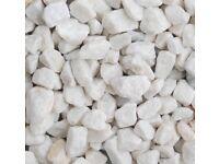 Spanish white garden/driveway chips