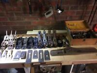 Old hand planes and parts