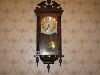 wooden wall clock as new