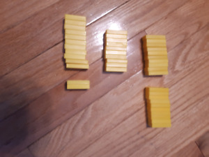 42 Yellow Dominoes