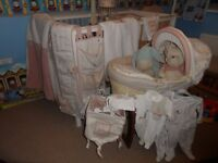 COMPLETE MAMAS & PAPAS WINNIE THE POOH & FRIENDS NURSERY COLLECTION WITH MATCHING CLOTHES (RRP £630)
