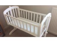 White swinging crib, John Lewis