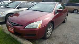 2005 Honda Accord** 2 door coupe **leather seats