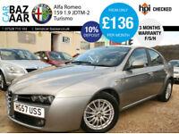 Alfa Romeo 159 1.9JTDM 16v Turismo+ONLY 59K MILES+F/S/H+CAMBELT+AUG 18 MOT