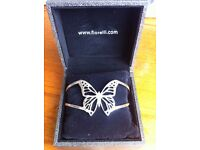 Fiorelli Sterling Silver Butterfly Bangle