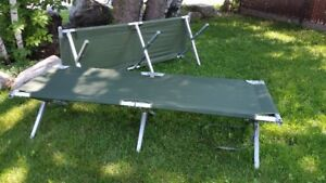 Two army camp cot or camping cot - Excellent condition
