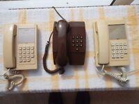 3 BT corded telephones in working order.