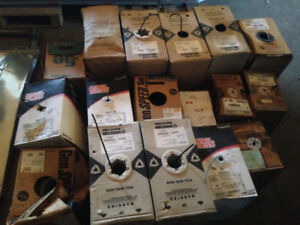 14 partial boxes of various electrical wire, CAT5E cable etc.
