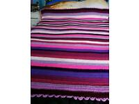 Crocheted throw single bed size