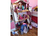 Dolls house and various assessories
