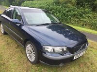 VOLVO S60 02 REG AUTOMATIC WITH LEATHER IN BLUE WITH SERVICE HISTORY AND MOT 07541350817