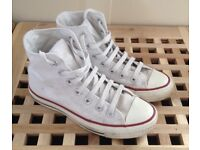 White Converse Boots size 3