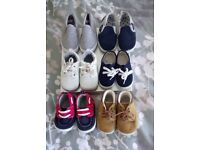 Baby boys shoes bundle sizes 3-4 12-18 mnths