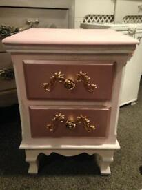 2 x rococo style bedside cabinets for sale