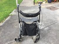 Topro Troja Rollator with back support.