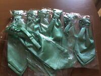 7 Cravats, 5 Men's & 2 boys. Mint green