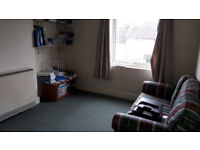Large one bedroom flat with off-street parking and great views, lots of storage space and amenities