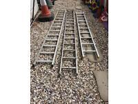 X 3 aluminium ladders