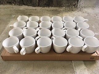 New Ikea Fargrik white mugs for tea and coffee - Set of 6   in ...