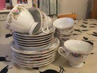 Pretty china tea set