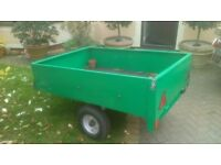 Car trailer 5x3 foot metal carboot tip run ect