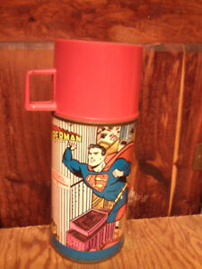 Vintage Superman thermos