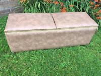 Vintage double Lidded Ottomon Blanket Box